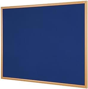 Metroplan 环保公告板 – 600毫米 x 900毫米 – 浅色橡木效果框 蓝色