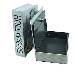 "Ogrmar 9.4""X6.1""X2.2"" 翻转隐藏书本,内有坚固的金属外壳和钥匙锁 240x155x55mm Book Safe-Marilyn Monroe Pattern"