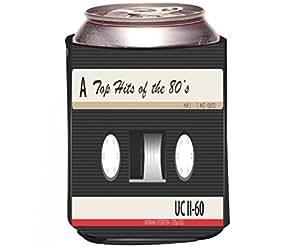 "Rikki Knight""Cassette Tape 's Hits Design"" Beer Can Soda Drinks Cooler Koozie"