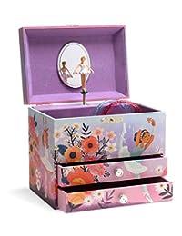 Jewelkeeper 大号音乐首饰盒 2 个抽屉 紫色和蓝色 A1715