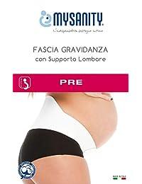 Mysanity 女式 Fascia Gravidanza Con Sostegno Lombare,Bianco,Taglia 孕妇内衣套装