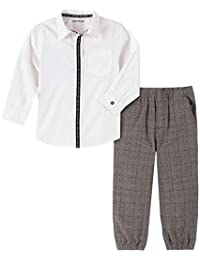Calvin Klein 男童 2 件套衬衫裤子套装