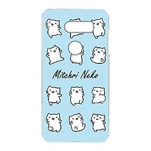 みっちり 猫透明印花 みっちり 猫白色系列手机壳  みっちりねこホワイトシリーズA 12_ JOJO L-02K