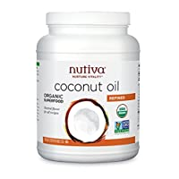 Nutiva 中性口味,蒸汽精炼椰子油,78盎司(2.3升),一包1瓶
