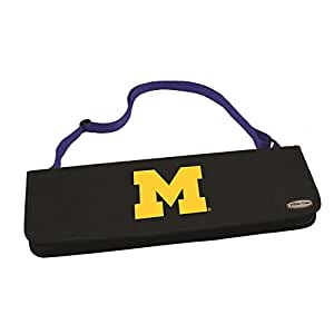NCAA Michigan Wolverines Metro 3-Piece BBQ Tool Set in Carry Case