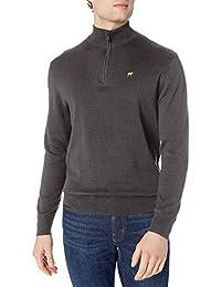 JACK nicklaus 男式纹理纯色长袖1/ 4-zip 毛衣