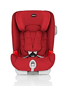Britax 宝得适 儿童安全座椅 百变骑士 IISICT Plus-Advansafix Plus 五点式安全带 ISOFIX安装 热情红 适合约9-36kg 9个月-12岁