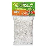 VIVOSUN 植物格子花架网种植袋 1-Pack 5'x15' 白色 FBA_3307