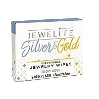 Silver & Gold 干性一次性珠宝湿巾,25 片