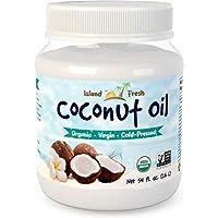 Island Fresh Superior Organic Virgin Coconut Oil, 54 Ounce 美国农业部认证椰子油 1.6 L 美国直邮 包邮包税