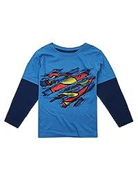 DC Comics 男童超人蒙长袖上衣