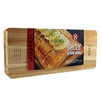 Coastal Cuisine 大型雪松烧烤/烧烤用盆 8 件套(17.78cm X 40.64cm) 7 in X 16 in 棕色 1038622
