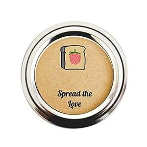 "Once Upon Supplies 出品的 Raspberry Jam Mason 罐贴标,散播自制礼物和派对礼物的爱果冻贴纸 2"" LAB10438"