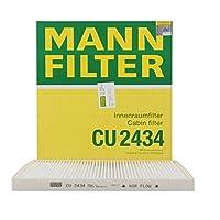 MANNFILTER 曼牌 空调滤清器CU2434(嘉华2.7L/赛拉图/威客2.7 索兰托/千里马1.3L) 原装进口 2个超值套装(适合车型见下方)(亚马逊自营商品, 由供应商配送)