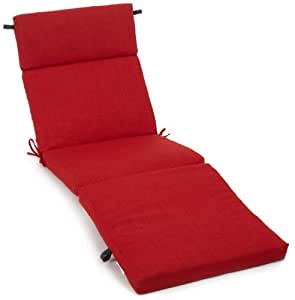 Blazing Needles 室内/室外纺织涤纶 60.96 厘米 x 182.88 厘米 x 8.89 厘米全天候防紫外线 拉链休闲垫 红色 93475/REO-S-4-PK