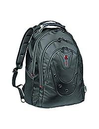 "Wenger 605081 16"" Ibex 超薄笔记本电脑背包带平板电脑包 - 黑色 {19 升 }"