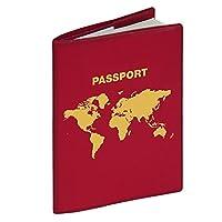 Herma 5549 RFID 电子信息屏蔽护照保护套(防止数据读取和泄露,格式 99 x 135mm)1件,*红色