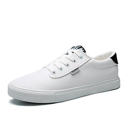 木林森 英伦男士低帮系带板鞋休闲鞋 复古滑板鞋单鞋 小白鞋男潮鞋学生鞋 男鞋子