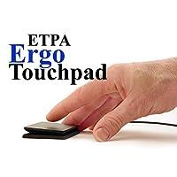 "Ergo Touchpad ETP001ETP 有线 USB - 黑色 - Low Profile - 可编程和多点触控,免费下载软件 - 1 15/16"" X 2 9/16"" X 3/8"" 尺寸"