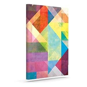 "Kess InHouse Mareike Boehmer ""Color Blocking II""彩虹抽象户外帆布墙艺术 24"" x 30"" MB2002BAC05"
