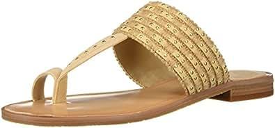 Tahari Ta-Gabby 女士平底凉鞋 天然 7 M US