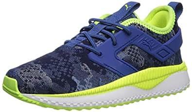 PUMA 男士 Pacer Next EXCEL 一脚蹬运动鞋 Galaxy Blue-yellow Alert-puma White 10.5 Little Kid