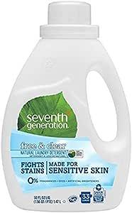 Seventh Generation *七世代 - 2x 液体洗衣液 & 透明 不含香料 2 件装