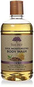 Tree Hut Almond Honey Body Wash, 17.5-Ounce Bottles (Pack of 3)