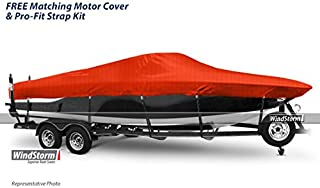Eevelle Windstorm Boat Cover for Ski Boats with Low Profile Windshield and Inboard Motor