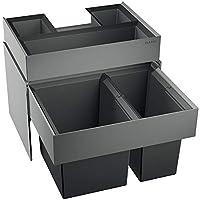 BLANCO 518725 Select 60/2 Orga 废弃物箱废物系统,金属,塑料,黑色,40 x 56 x 36厘米