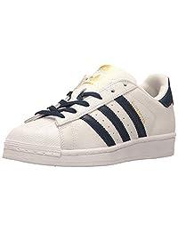 adidas 阿迪达斯 Originals Superstar 中性 儿童运动鞋 Cwhite,conavy,goldmt Medium 40 EU