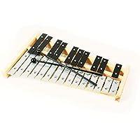 專業木制高音符鐘琴木制木琴,帶 25 個金屬鑰匙,適合成人和兒童 - 包括 2 個塑料打蛋器CA-TL25L-1