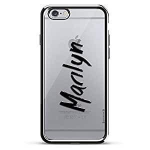 LUXENDARY CASE 对开式 黑色LUX-I6CRM-NMMARILYN1 Name: MARILYN, Hand-WRITTEN Style 银色