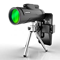 cheerwing 12X 50高 POWER bak-4PRISM 单筒望远镜望远镜带三脚架和智能手机支架适用于运动狩猎野营旅游野生动物观看演唱会