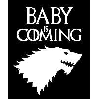 LLI Baby is Coming Game of Thrones 发布| 贴花乙烯基贴纸 | 汽车 卡车 货车 墙壁 笔记本电脑 | 白色 | 19.05 x 13.97 厘米 | LLI1417