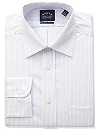 Eagle 男士弹力标准条纹宽领衬衫