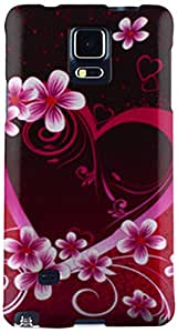 Cell-Pak Rubber Image Case for Samsung Galaxy Note 4 -  Retail Packaging  -  Rose Red Heart