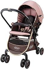 美国 Graco 葛莱 婴儿推车 CITINEXT城市慧智系列 6BU98BDXN 棕色 (38CM超宽坐席设计,万向轮锁,五点式安全带,配备置物篮,双天窗设计,遮阳篷可以阻隔UV)