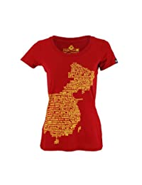 NLGX 南锣鼓巷 中国字图系列 NLGX ChinaType 女式 短袖T恤 TSH120