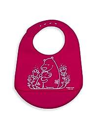 Mini-Twist, 100% Pure Silicone Baby Bucket Bib, Bears