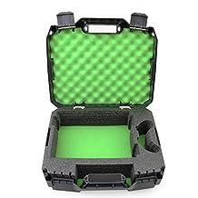 CASEMATIX *保护旅行手提箱适合 Xbox One S、电源线、遥控器和游戏 - 软垫泡沫内部适用于 Xbox ONE S 1TB 或 500GB 控制台系统
