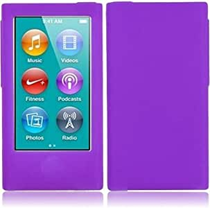 HR Wireless iPod nano 7 Silicone Skin Cover (Dark Purple)