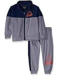 Reebok 男童幼儿游戏日主题飞行员夹克和慢跑裤