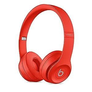 Beats Solo3 Wireless 头戴式 蓝牙无线耳机 - 红色 带麦克风可通话 MP162PA/A