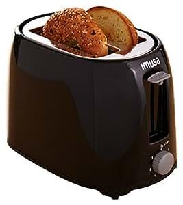 IMUSA USA GAU-80401 2 片 Bistro 冷触摸烤面包机 黑色