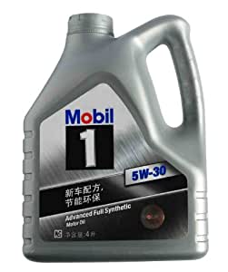 Mobil美孚1号全合成机油(5W-30) SN 4L装(新老包装 随机发货) (部分地区已开通线下安装及保养服务!仅限亚马逊自营商品)