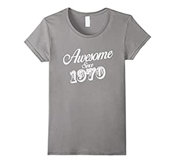 Awesome Since 1970 - 46th Birthday Gift Anniversary T-shirt 蓝灰色 Female Medium