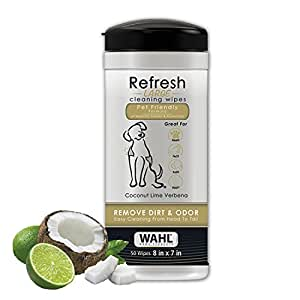Wahl Home Pet Refresh Cleaning Wipes, Coconut Lime Verbena #820017
