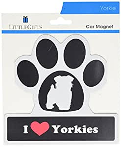 LittleGifts Yorkie Paw Car Magnet