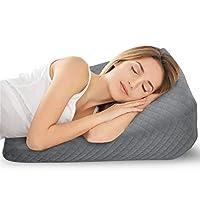 楔形枕头用于阅读、睡觉、抬高腿,帮助酸反流,保护颈椎,缓解背部*,5 合 1 身体支撑*泡沫楔形枕头可拆洗枕套